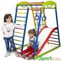 Спортивный детский комплекс для дома SportBaby SportWood Plus1