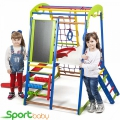 Спортивный детский комплекс для дома SportBaby SportWood Plus3