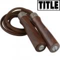 Скакалка кожаная TITLE TB-7001