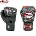 Перчатки боксерские кожаные на липучке TWINS FBGVL-3-8C-BK