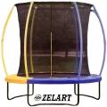 Батут с защитной сеткой детский ZELART TX-B7123N