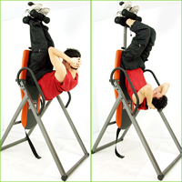 Упражнения на пресс на инверсионном столе